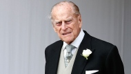 In this file photo dated Friday, Oct. 12, 2018, Britain's Prince Philip waits for the bridal procession following the wedding of Princess Eugenie of York and Jack Brooksbank at St George's Chapel in Windsor Castle, England. (AP / Alastair Grant, FILE)