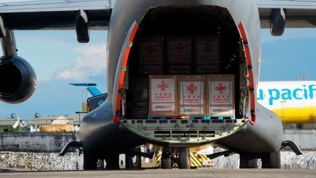 China vaccine airlift