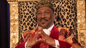 """Eddie Murphy appears in a scene from """"Coming 2 America."""" (Quantrell D. Colbert/Paramount Pictures via AP)"""