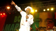 FILE - In this Feb. 6, 2005 file photo, Bunny Wailer performs at the One Love concert to celebrate Bob Marley's 60th birthday, in Kingston, Jamaica. Wailer, a reggae luminary who was the last surviving member of the legendary group The Wailers, died on Tuesday, March 2, 2021, in his native Jamaica, according to his manager. He was 73. (AP Photo/Collin Reid, File)