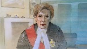 Justice Anne Molloy is seen in this court sketch from March 3, 2021.