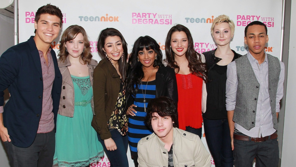 "Actors, clockwise from left, Luke Bilyk, Aislinn Paul, Alex Steeler, Melinda Shankar, Annie Clark, Jordan Todosey, Jahmil French and Munro Chambers from ""Degrassi: The Next Generation,"" are shown at a screening event, Saturday, Feb. 18, 2012, at the Wellmont Theater in Montclair, N.J. Friends of French say he was a gifted 'true artist' who 'wanted to be great'THE CANADIAN PRESS/AP Photo/StarPix, Dave Allocca"