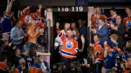 Walter Gretzky is honoured during the Vancouver Canucks and Edmonton Oilers NHL game at Rexall Place in Edmonton, Alta., on Wednesday April 6, 2016. Walter Gretzky, the ultimate Canadian hockey dad who taught and nurtured the Great One, has died. He was 82. THE CANADIAN PRESS/Jason Franson