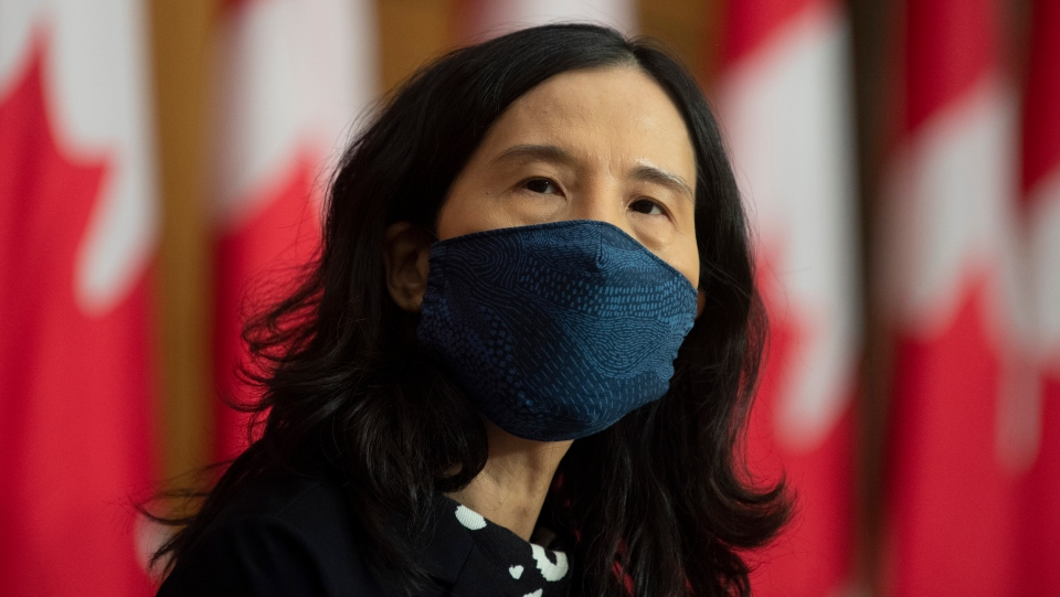 Chief Public Health Officer Theresa Tam is seen during a news conference Tuesday December 8, 2020 in Ottawa. THE CANADIAN PRESS/Adrian Wyld