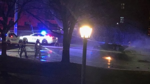 The SIU is investigating after a stolen police cruiser was involved in a crash that left three people injured in Whitby on Sunday night. (Submitted photo)