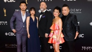 "The cast of ""Kim's Convenience"" arrives on the red carpet for the 2019 Canadian Screen Awards in Toronto on Sunday, March 31, 2019. THE CANADIAN PRESS/Nathan Denette"