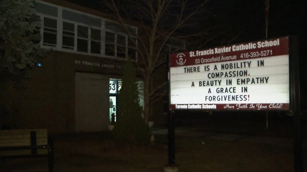 St. Francis Xavier Catholic School is pictured.