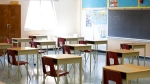 A physically distanced classroom is seen at Kensington Community School amidst the COVID-19 pandemic on Tuesday, September 1, 2020. THE CANADIAN PRESS/Carlos Osorio