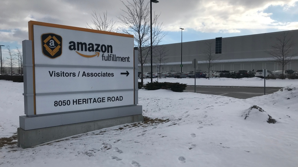 An Amazon fulfillment centre in Brampton is seen in this undated photo. (CTV News/Craig Wadman)