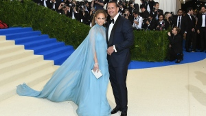 """Jennifer Lopez and Alex Rodriguez at Metropolitan Museum of Art on May 1, 2017 in New York City. The couple has said they are not broken up but are instead """"working through some things."""" (Dia Dipasupil/Getty Images North America via CNN)"""