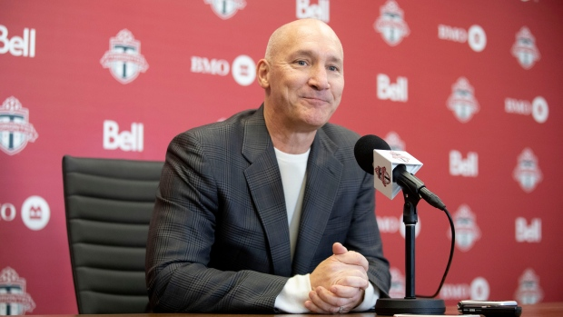 Toronto FC president Bill Manning speaks to the media during an end-of-season availability in Toronto on Wednesday, November 13, 2019. THE CANADIAN PRESS/Chris Young
