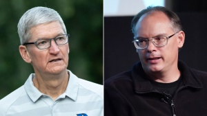 Apple and Epic are nearing their highly anticipated Fortnite trial and Apple CEO Tim Cook and Epic Games' founder and CEO Tim Sweeney are both expected to testify.(Getty Images via CNN)