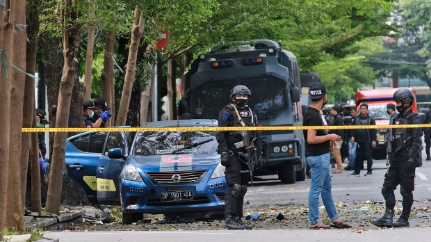 14 injured in explosion outside church in central Indonesia