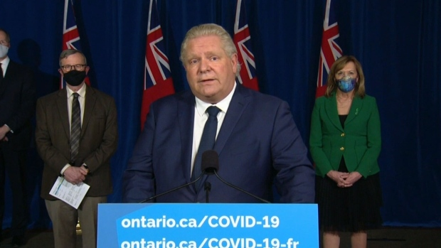 Premier Ford  Ontario s chief medical officer of health to make announcement this afternoon