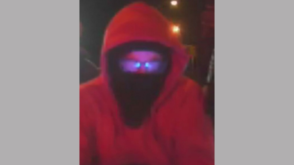 A suspect sought for arson and mischief to a police vehicle is pictured. (Toronto police)