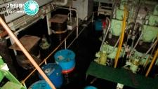 MV Saviz engine room