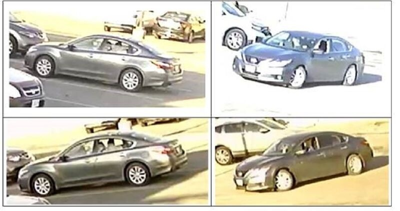 Police say the suspect was in a a grey four-door 2016-2018 Nissan Altima. (Toronto Police Service)