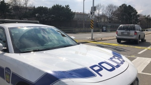 Peel police are investigating after two children were struck by a vehicle in Mississauga. (Corey Baird/CTV Toronto)