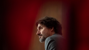 Prime Minister Justin Trudeau listens to a question from a reporter during a news conference in Ottawa, Friday, April 9, 2021. THE CANADIAN PRESS/Adrian Wyld