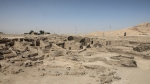A 3,000-year-old lost city in Luxor province, Egypt, is seen Saturday, April 10, 2021. The newly unearthed city is located between the temple of King Rameses III and the colossi of Amenhotep III on the west bank of the Nile in Luxor. The city continued to be used by Amenhotep III's grandson Tutankhamun, and then his successor King Ay. (AP Photo/Mohamed Elshahed)