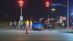 Peel police are investigating a collision involving a car and a motorcycle in Mississauga that sent a man to hospital.