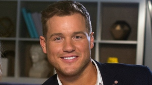 "FILE - Colton Underwood from the reality series, ""The Bachelor,"" appears during an interview in New York on March 13, 2019. Underwood, the former football tight end who found fame on ""The Bachelor"" has revealed that he is gay. (AP Photo/Gary Gerard Hamilton, File)"