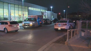 Police are investigating a shooting near Jane and Sheppard that sent one person to hospital.