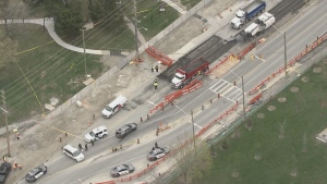 Toronto police are investigating after a pedestrian was fatally struck by a dump truck in North York.
