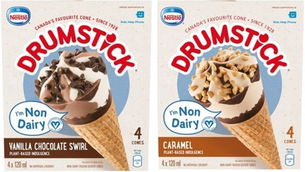 Nestlé Canada recalls non-dairy drumsticks after finding they may cont... image