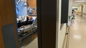 Jose Garcia, 67, receives oxygen in the respirology unit as he is battling COVID-19 at the Humber River Hospital during the COVID-19 pandemic in Toronto on Tuesday, April 13, 2021. THE CANADIAN PRESS/Nathan Denette