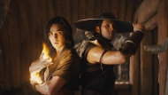 "This image released by Warner Bros. Pictures shows Ludi Lin, left, and Max Huang in a scene from ""Mortal Kombat."" (Warner Bros. Pictures via AP)"