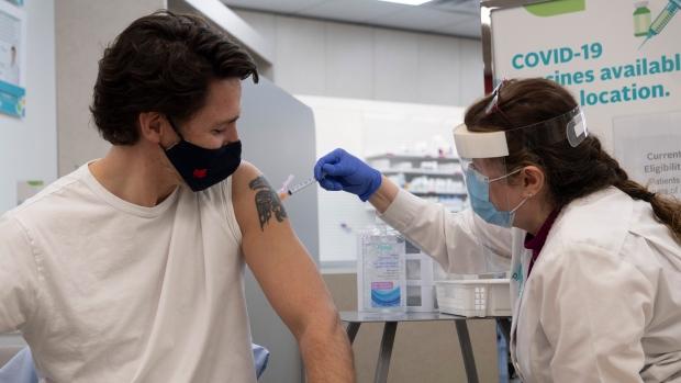 Trudeau gets COVID-19 vaccine
