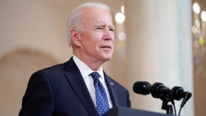 FILE- President Joe Biden speaks Tuesday, April 20, 2021, at the White House in Washington, after former Minneapolis police Officer Derek Chauvin was convicted of murder and manslaughter in the death of George Floyd. (AP Photo/Evan Vucci)