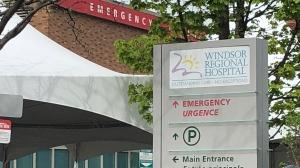 Emergency entrance at Windsor Regional Hospital in Windsor, Ont. on Tuesday, April 27, 2021. (Alana Hadadean/CTV Windsor)