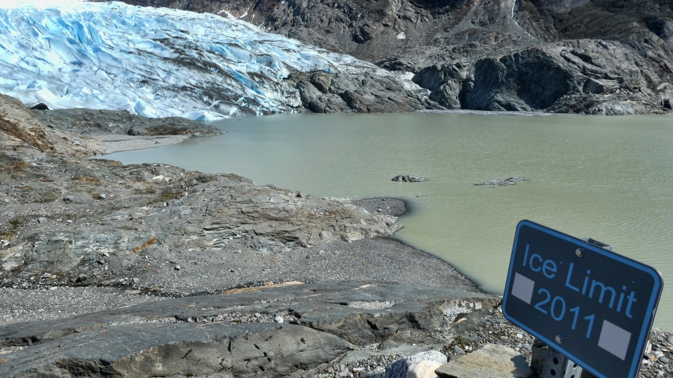 his May 9, 2020 file photo shows the Mendenhall Glacier in Juneau, Alaska. Since 2000, the glacier has lost 2.8 billion tons (2.5 billion metric tons) of snow and ice, with more than 1.7 billion tons (1.6 billion metric tons) since 2010. According to a study released on Wednesday, April 28, 2021 in the journal Nature, the world's 220,000 glaciers are melting faster now than in the 2000s. (AP Photo/Becky Bohrer)