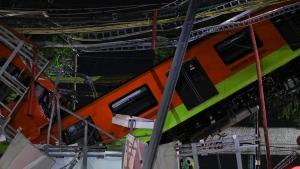 Mexico subway train collapse