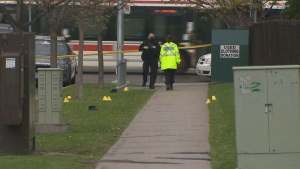 A man is in serious condition following a shooting in Etobicoke Wednesday afternoon.