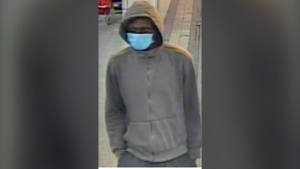 Police release security camera images of suspect in a stabbing at Royal York station. (Toronto Police Service)