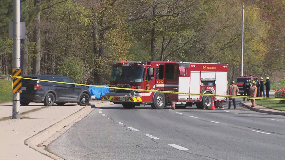 Two people are dead after a single-vehicle collision in Mississauga Saturday morning.