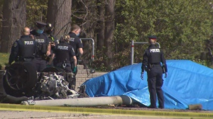 Two people are dead following a single-vehicle crash in Mississauga Saturday morning.
