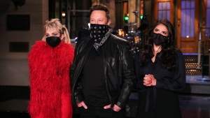 Elon Musk, the eccentric tech billionaire, will host the Saturday Night Live show this Saturday. Miley Cyrus will join him as musical guest. (Rosalind O'Connor/NBC via CNN)