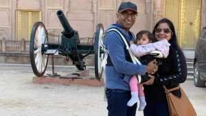 Hari Gopal Garg and his wife Komal Garg hold their baby Kaveri as they pose for a recent photo while in India. Komal Garg's first Mother's Day features some of the joy she was expecting, but tempered with fear and frustration as she awaits the green light to start enjoying family life at home. THE CANADIAN PRESS/HO-Hari Gopal Garg *MANDATORY CREDIT*
