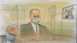 Nicholas Mills is seen in court on May 11, 2021. (John Mantha)