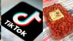 This combination photo shows an image of the Tik Tok app and a recipe for a tomato and feta pasta dish that went viral on Tik Tok. (AP Photos)
