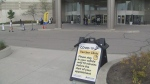 A 32-hour vaccine clinic is operating at The International Centre in Mississauga.