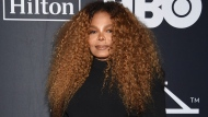 FILE - Janet Jackson arrives at the Rock & Roll Hall of Fame induction ceremony in New York on March 29, 2019. Jackson turns 55 on May 16. (Photo by Evan Agostini/Invision/AP, File)