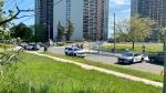 Police are searching for suspects after five people were shot in Etobicoke. (CTV News/Francis Gibbs)