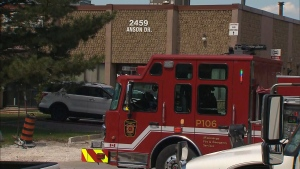 Firefighters responded to a fire at a commercial propery in Mississauga on Monday morning.