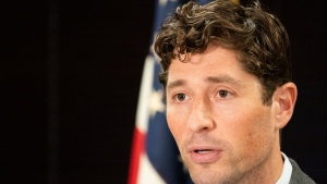 FILE - In this Aug. 1, 2020, file photo, Minneapolis Mayor Jacob Frey speaks during a press conference in Minneapolis. (Evan Frost/Minnesota Public Radio via AP)