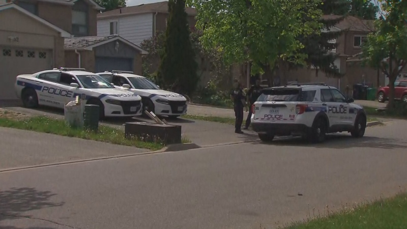 A child is in life-threatening condition after falling from a window at a home near Pickard Lane and Banting Crescent in Brampton on Tuesday morning, Peel police say.